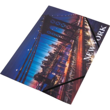 "PANTA PLAST Gumis mappa, 15 mm, PP, A4, PANTA PLAST, ""New York"" mappa"