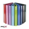 PANTA PLAST Gyûrûs könyv, panorámás, 4 gyûrû, 40 mm, A4, PP/karton, PANTA PLAST, rózsaszín