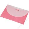 PANTA PLAST Irattartó tasak, A4, PP, patentos, két zsebes, PANTA PLAST, pasztell rózsaszín (INP4101713)
