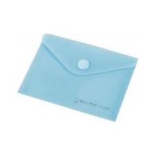 PANTA PLAST Irattartó tasak, A6, PP, patentos, 160 mikron, PANTA PLAST, pasztell kék irattartó