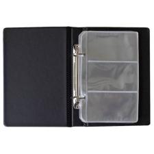 PANTA PLAST Névjegytartó, 120 db-os, gyűrűs, PANTAPLAST, fekete hegesztés