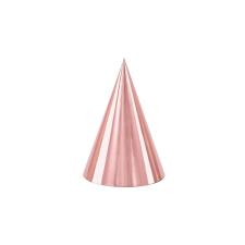 PartyDeco Party csákók - Hologramos rózsaszín arany party kellék