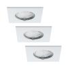 Paulmann 92760 - KÉSZLET 3X LED Beépíthető lámpa COIN LED/6,8W/230V fehér