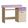 PC asztal, kőrisfa/ibolyakék, EGO L10