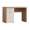 PC asztal, tölgyfa/fehér, WINIE WNB935