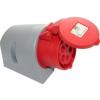 PCE felületre szerelhető ipari dugaszoló aljzat 4 pólusu 32A 380V IP44