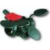 PCE gumi lengő dugaszoló aljzat 3-as T elrendezésű, csapófedéllel 16A