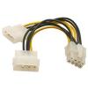 PCIe VGA tápkábel átalakító 8 pin (molex-rõl)