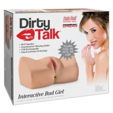 PDX Interactive Bad Girl - nyögő masztubátor (natúr) egyéb erotikus kiegészítők férfiaknak