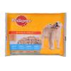 Pedigree Junior Vital Protection alutasakos kutyaeledel 4x100 g csirkével és marhával