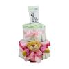 Pelenkatorta Webshop Babaváró ajándék ötlet: Pelenkatorta kislánynak BabyZoo babatestápolóval