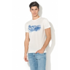 Pepe Jeans London , Darren regular fit mintás póló, Fehér, M (PM503989-803-M)