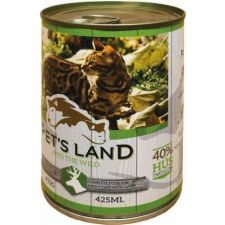PET'S LAND Cat konzerv vadhússal és répával (48 x 415 g) 19.92kg macskaeledel