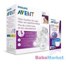 Philips Avent Avent Natural kézi mellszívó + Ajándék VIA pohár 180 ml - 5 db mellszívó
