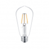 Philips LED 4W/827/E27 - Normál Forma 4-40W ST64 827 - FILAMENT Classic ND - Philips - 929001237302