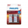 Philips LR6P6BP/10 - 6 db alkáli elem AA POWER ALKALINE 1,5V
