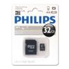 Philips MEMÓRIA KÁRTYA MicroSDHC PHILIPS CLASS10 32GB + ADAPTER