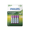 Philips R03B4A70/10 - 4 db tölthető elem AAA MULTILIFE NiMH/1,2V/700 mAh