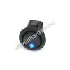 Phobya kerek kétállású kapcsoló - kék LED - unipoláris ON/OFF (3-Pin)