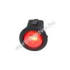 Phobya kerek kétállású kapcsoló - piros világítás - unipoláris ON/OFF (3-Pin)