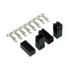 Phobya ventilátor tápcsatlakozó 2 tűs aljzat beleértve 2 tűt - 4 db fekete