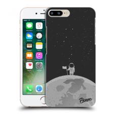 Picasee Fekete szilikon tok az alábbi mobiltelefonokra Apple iPhone 7 Plus - Astronaut tok és táska