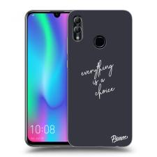 Picasee Fekete szilikon tok az alábbi mobiltelefonokra Honor 10 Lite - Everything is a choice tok és táska