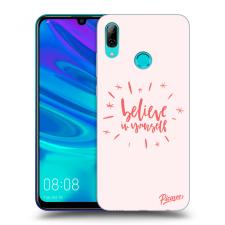 Picasee Fekete szilikon tok az alábbi mobiltelefonokra Huawei P Smart 2019 - Believe in yourself tok és táska