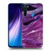 Picasee Fekete szilikon tok az alábbi mobiltelefonokra Xiaomi Redmi Note 8 - Purple glitter