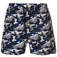 Pierre Cardin férfi fürdőnadrág - Pierre Cardin Camo Print Swim Shorts Mens Navy Camo