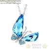 Pillangó medálos nyaklánc Swarovski kövekkel