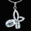 Pillangó nyaklánc szimulált gyémánttal