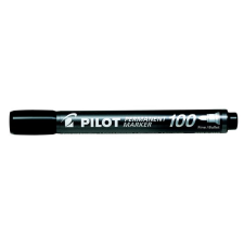 "Pilot Alkoholos marker, 1 mm, kúpos, PILOT ""Permanent Marker 100"", fekete filctoll, marker"