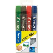 "Pilot Alkoholos marker, 1 mm, kúpos, PILOT ""Permanent Marker 100"", 4 szín filctoll, marker"