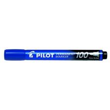 "Pilot Alkoholos marker, 1 mm, kúpos, PILOT ""Permanent Marker 100"", kék filctoll, marker"