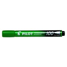 """Pilot Alkoholos marker, 1 mm, kúpos, PILOT """"Permanent Marker 100"""", zöld filctoll, marker"""