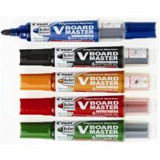 """Pilot Táblamarker készlet, 2,3 mm, kúpos, tartóval és szivaccsal,  """"V-Board Master"""", 5 különböző szín filctoll, marker"""