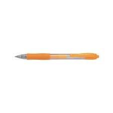 Pilot Zseléstoll, 0,37 mm, nyomógombos, PILOT  G-2 Neon , narancs toll