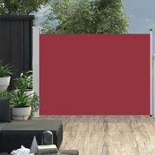 Piros behúzható oldalsó teraszi napellenző 120 x 500 cm kerti bútor