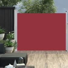 Piros behúzható oldalsó teraszi napellenző 170 x 500 cm kerti bútor