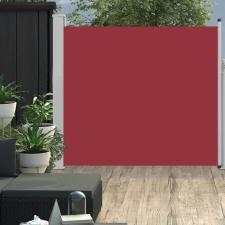 Piros kihúzható oldalsó teraszi napellenző 170 x 300 cm kerti dekoráció