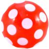 Piros pöttyös gumilabda - 18 cm