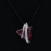 Platinával bevont exkluzív nyaklánc bíbor és színjátszó Swarovski kristályokkal + AJÁNDÉK DÍSZDOBOZ (0556.)