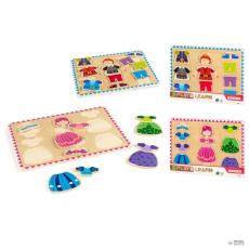 PLAY & LEARN Puzzle hercegnő principe faipari 12 pzs típus gyerek