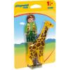Playmobil 1.2.3 Állatgondozó Zsiráffal 9380