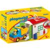 Playmobil 1.2.3 Teherautó formaválogató garázzsal 70184
