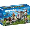 Playmobil Knights Törpök és a vontatható dárdavető gép 9341