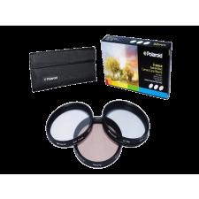 Polaroid szűrőszett (UV, CPL, FLD) + 4 db-os szűrőtok 62 mm objektív szűrő