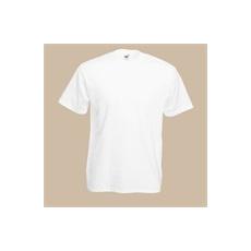 póló fehér kereknyakú 100% pamut (L)