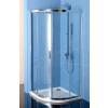 Polysan Easy Line íves zuhanykabin 80x80 cm, transzparent üveg
